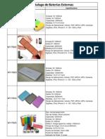 Catalogo de Cargadores y Baterias Externas.