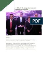 09-11-2014 Periódico Digital.mx - Barra Mexicana y Colegio de Abogados Reconoce Apoyo de RMV Para Realiza Congreso