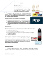 Consumer Chemistry - Artificial Sweeteners