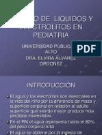 4.- Manejo de Líquidos y Electrolitos en Pediatría (Dra. Álvarez)