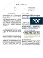Informe Subnetting - Telematica II - S8B