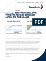 Boiler Efficiency and Firing Rate