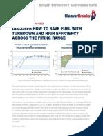 Boiler Efficiency and Firing Rate