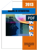 Manual de Estadística 2013