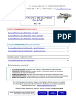 Catalogo Cursos on-line 2012 Cp Latinoamerica