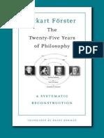Forster Eckart Twenty Five Years Philosophy