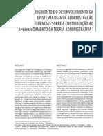 O Surgimento e o Desenvolvimento Da Epistemiologia Da Adm
