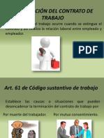TERMINACION DE CONTRATO DE TRABAJO