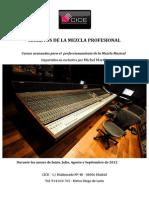 Cursos de Perfeccionamiento de La Mezcla Musical 2012