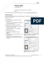 preparing layouts to print