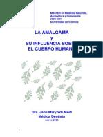 Amalgama estudio en el cuerpo humano