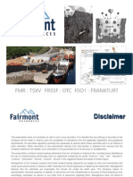 Fairmont Resources Corporate Presentation