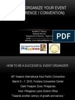How to Organize Your Event