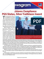 Newsgram - DBP Achieves Compliance PGS Status, Silver Trailblazer Award