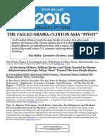 """THE FAILED OBAMA- CLINTON ASIA """"PIVOT"""""""