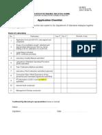 LA 101-5 App Checklist Amd