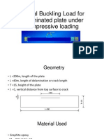 Critical Buckling Load for Delaminated Plate Under Compressive