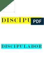 Cartão Pasta Discípulo e Discipulador