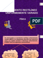 Movimiento Rectilíneo Uniformemente Variado (1)