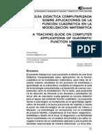 Guía didáctica computarizada sobre aplicaciones de la función cuadrática en la modelización matemática