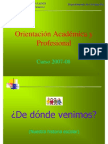 Orientacion académica 2007-2008
