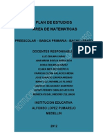 Plan General Area Matematicas Alpuma 2012