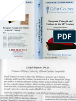 Teaching Company (TTC) - European Thought + Culture in the 20th Century (Kramer) - Guidebook 1