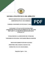 Análisis y Evaluación de Fraudes Administrativos-financieros en El Sector Privado y Las Responsabilidades Que Conlleva
