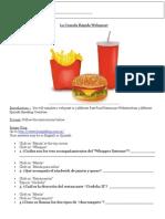 la comida rapida webquest