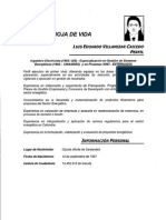 Hoja de Vida- Luis Eduardo Villamizar