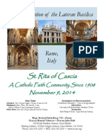 St. Rita Parish Bulletin 11/9/2014