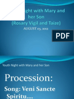 Youth Night With Mary and Her Son