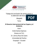 EL DERECHO INTERNACIONAL DEL IUS COGENS Y EL AMBIENTE