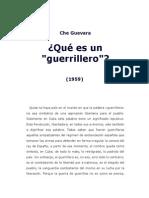 Que Es Un Guerrillero. Che Guevara
