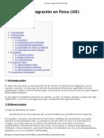 Derivación e Integración en Física (GIE)