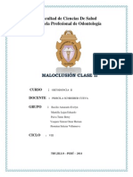 Informe Maluclusiones Clase III