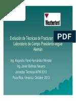 Ev. de Tecnicas de Fractuameinto Poza Rica