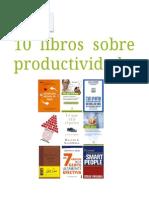 10 libros sobre productividad
