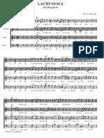 Lacrymosa - Mozart SATB