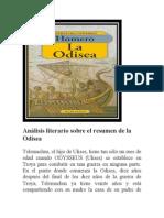 Análisis Literario Sobre El Resumen de La Odisea
