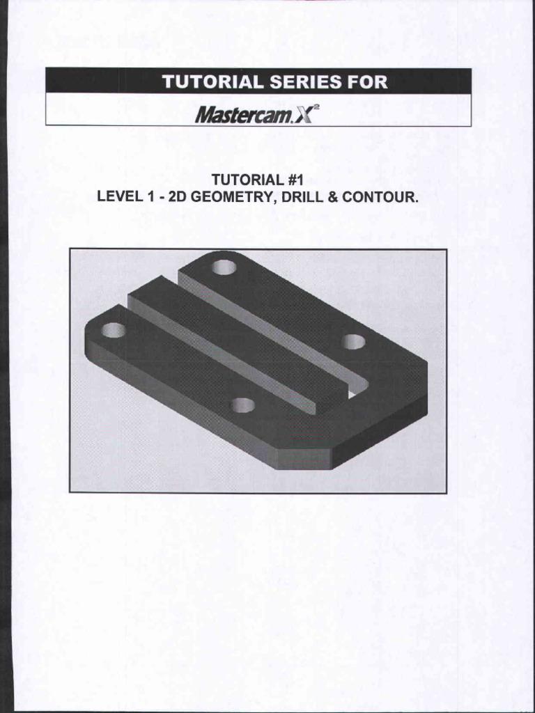 mastercam x tutorial 1 thru 4 rh scribd com Mastercam X10 Mastercam X5 Demo