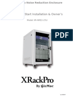 Server Rack Manual on 25U XRackPro2 Noise Reducing Enclosure Cabinet