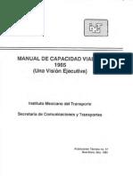 Manual de Capacidad Vial 1985