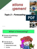 Topic 2 -Forecasting