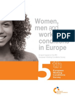 Women, men and working conditions in Europe