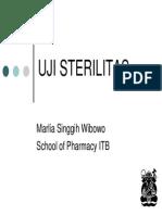 Uji Sterilitas Farmakope