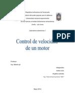Control de Velocidad de Un Motor Electronica1