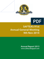 Saftea Annual Report 2013