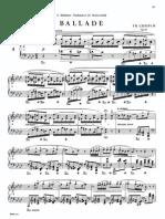 Chopin Paderewski No 3 Ballades Op52