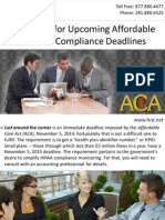 Get Ready for Upcoming Affordable Care Act Compliance Deadlines